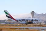 安芸あすかさんが、サンフランシスコ国際空港で撮影したエミレーツ航空 A380-861の航空フォト(写真)