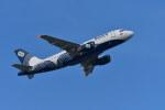 南国の防人さんが、成田国際空港で撮影したオーロラ A319-111の航空フォト(写真)