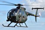 ミルハスさんが、瀬峰飛行場で撮影した陸上自衛隊 OH-6Dの航空フォト(写真)