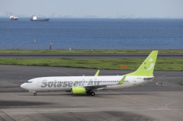 KAZFLYERさんが、羽田空港で撮影したソラシド エア 737-81Dの航空フォト(写真)