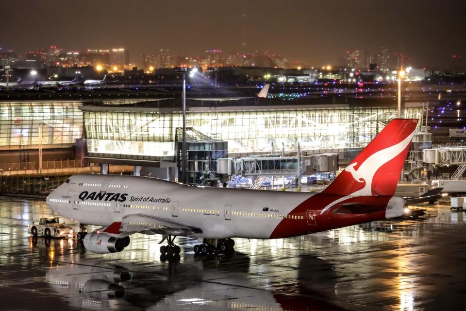 kikiさんのカンタス航空 Boeing 747-400 (VH-OJU) 航空フォト