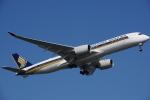 JA8037さんが、羽田空港で撮影したシンガポール航空 A350-941XWBの航空フォト(飛行機 写真・画像)