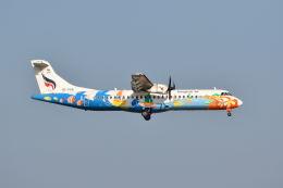 ポン太さんが、スワンナプーム国際空港で撮影したバンコクエアウェイズ ATR-72-500 (ATR-72-212A)の航空フォト(飛行機 写真・画像)