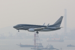 OS52さんが、香港国際空港で撮影したケイマン諸島企業所有 737-7JW BBJの航空フォト(写真)