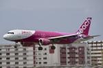 そら丸さんが、福岡空港で撮影したピーチ A320-214の航空フォト(飛行機 写真・画像)