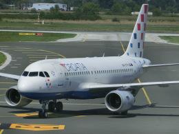 ヒロリンさんが、ザグレブ空港で撮影したクロアチア航空 A319-112の航空フォト(飛行機 写真・画像)