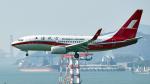 FlyingMonkeyさんが、香港国際空港で撮影した上海航空 737-76Dの航空フォト(写真)
