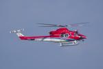 かずまっくすさんが、小松空港で撮影した石川県消防防災航空隊 412EPの航空フォト(写真)