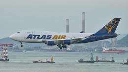 FlyingMonkeyさんが、香港国際空港で撮影したアトラス航空 747-45E(BDSF)の航空フォト(飛行機 写真・画像)