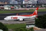 HLeeさんが、台北松山空港で撮影したティーウェイ航空 737-83Nの航空フォト(写真)