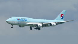 FlyingMonkeyさんが、香港国際空港で撮影した大韓航空 747-8B5の航空フォト(飛行機 写真・画像)