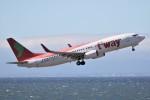 ドラパチさんが、中部国際空港で撮影したティーウェイ航空 737-8Q8の航空フォト(写真)