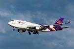 たかしさんが、羽田空港で撮影したタイ国際航空 747-4D7の航空フォト(飛行機 写真・画像)