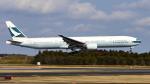 FlyingMonkeyさんが、成田国際空港で撮影したキャセイパシフィック航空 777-367の航空フォト(写真)