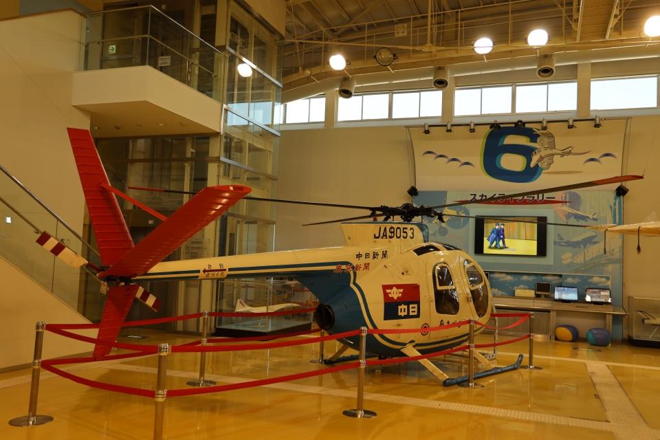 MIRAGE E.Rさんの中日新聞社 Kawasaki Hughes 369 (JA9053) 航空フォト