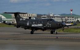 青い翼に鎧武者マークの!さんが、名古屋飛行場で撮影したデンマーク企業所有 PC-12/47Eの航空フォト(飛行機 写真・画像)