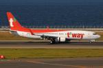 きんめいさんが、中部国際空港で撮影したティーウェイ航空 737-8ASの航空フォト(写真)
