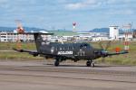 髪刈虫(かみきりむし)さんが、名古屋飛行場で撮影したデンマーク企業所有 PC-12/47Eの航空フォト(写真)