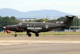 なごやんさんが、名古屋飛行場で撮影したデンマーク企業所有 PC-12/47Eの航空フォト(飛行機 写真・画像)