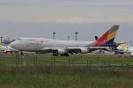 みるぽんたさんが、成田国際空港で撮影したアシアナ航空 747-446(BDSF)の航空フォト(写真)