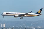 Tomo-Papaさんが、ロサンゼルス国際空港で撮影したシンガポール航空 A350-941XWBの航空フォト(写真)