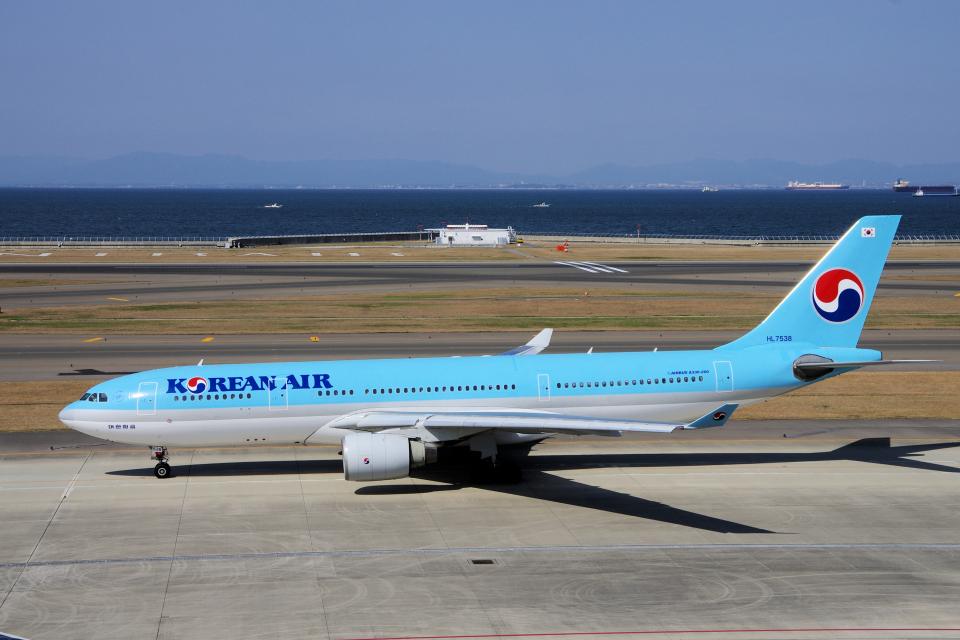 yabyanさんの大韓航空 Airbus A330-200 (HL7538) 航空フォト