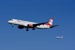 Frankspotterさんが、フランクフルト国際空港で撮影したオーストリア航空 ERJ-190-200 LR (ERJ-195LR)の航空フォト(写真)