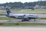 空旅さんが、成田国際空港で撮影したオーロラ A319-111の航空フォト(写真)