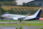 臨時特急7032Mさんが、福岡空港で撮影したオランダ政府 737-700 BBJの航空フォト(飛行機 写真・画像)