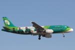 安芸あすかさんが、ロンドン・ヒースロー空港で撮影したエア・リンガス A320-214の航空フォト(写真)