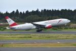 @たかひろさんが、成田国際空港で撮影したオーストリア航空 777-2B8/ERの航空フォト(写真)