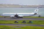 SFJ_capさんが、羽田空港で撮影したクウェート政府 A340-542の航空フォト(写真)