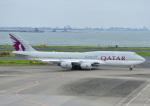じーく。さんが、羽田空港で撮影したカタールアミリフライト 747-8KB BBJの航空フォト(飛行機 写真・画像)
