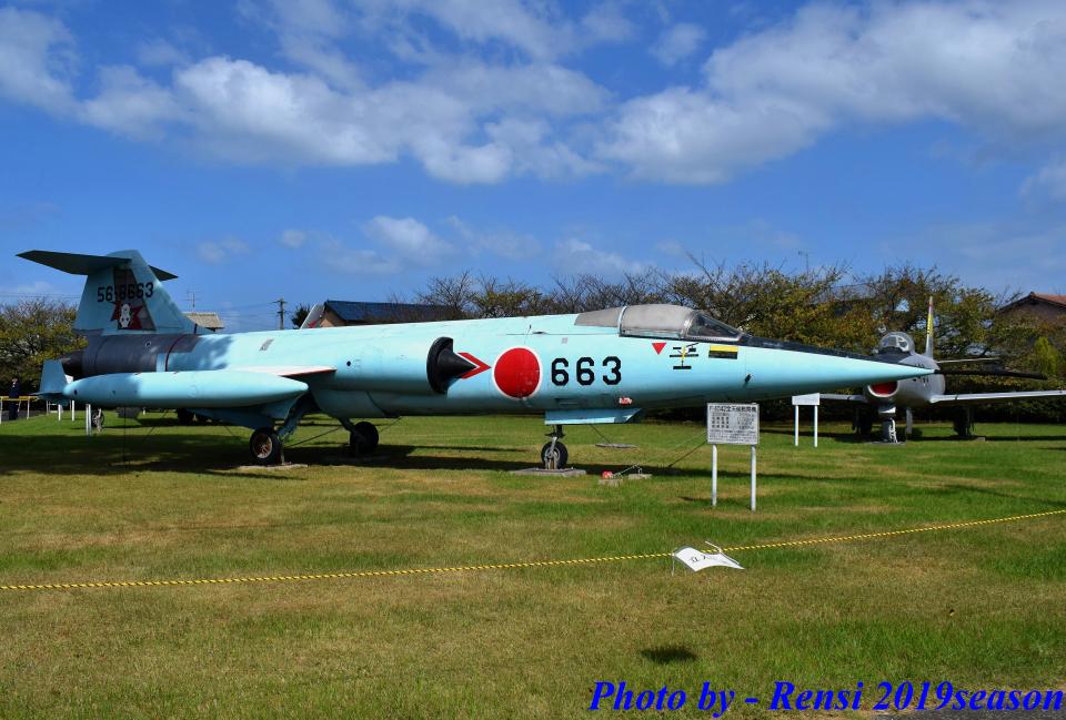 れんしさんの航空自衛隊 Mitsubishi F-104 (56-8663) 航空フォト