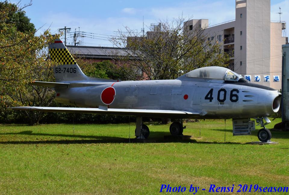 れんしさんの航空自衛隊 North American F-86 Sabre (52-7406) 航空フォト