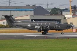 MOR1(新アカウント)さんが、鹿児島空港で撮影したデンマーク企業所有 PC-12/47Eの航空フォト(飛行機 写真・画像)