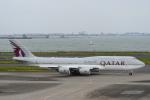 チャーリーマイクさんが、羽田空港で撮影したカタールアミリフライト 747-8KB BBJの航空フォト(写真)
