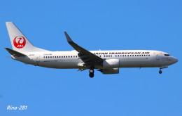 RINA-281さんが、小松空港で撮影した日本トランスオーシャン航空 737-8Q3の航空フォト(写真)