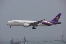 OS52さんが、香港国際空港で撮影したタイ国際航空 777-2D7の航空フォト(飛行機 写真・画像)