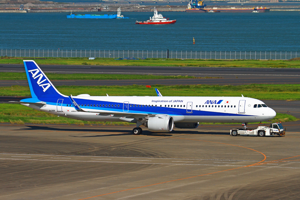 りんたろうさんの全日空 Airbus A321neo (JA136A) 航空フォト
