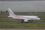 AXT747HNDさんが、羽田空港で撮影したグローバル・ジェット・ルクセンブルク A318-112 CJ Eliteの航空フォト(写真)