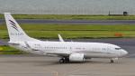 パンダさんが、羽田空港で撮影したアラブ・ウイングス 737-7GJ BBJの航空フォト(飛行機 写真・画像)