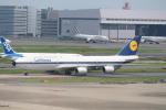 100分の1の飛旅人さんが、羽田空港で撮影したルフトハンザドイツ航空 747-830の航空フォト(飛行機 写真・画像)