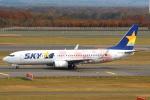 セブンさんが、新千歳空港で撮影したスカイマーク 737-86Nの航空フォト(飛行機 写真・画像)