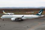 セブンさんが、新千歳空港で撮影したキャセイパシフィック航空 A350-941XWBの航空フォト(飛行機 写真・画像)