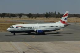 NIKEさんが、ビクトリアフォールズ空港で撮影したコムエアー 737-4H6の航空フォト(飛行機 写真・画像)