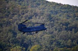 アカゆこさんが、ソウル空軍基地で撮影した大韓民国空軍 CH-47Dの航空フォト(飛行機 写真・画像)