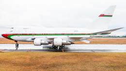 pinama9873さんが、広島空港で撮影したオマーン・ロイヤル・フライト 747SP-27の航空フォト(飛行機 写真・画像)