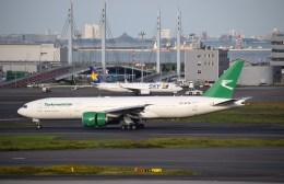 よんすけさんが、羽田空港で撮影したトルクメニスタン航空 777-22K/LRの航空フォト(飛行機 写真・画像)