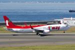 yabyanさんが、中部国際空港で撮影したティーウェイ航空 737-8ALの航空フォト(飛行機 写真・画像)
